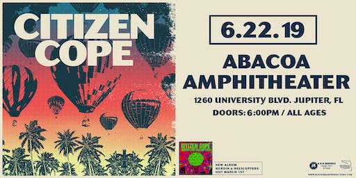 Citizen Cope at Abacoa Amphitheater (June 22, 2019)