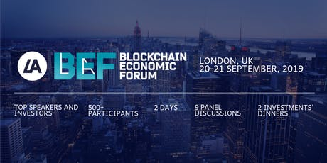 LATOKEN Blockchain Economic Forum, London, UK, September 20-21 tickets