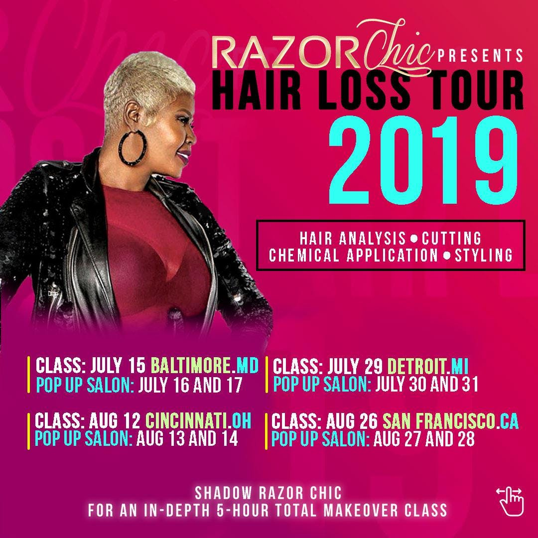Razor Chic Los Angeles Hair Loss Tour 2019