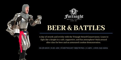 Beer & Battles at Fortnight Brewing:  Vikings and Knights tickets