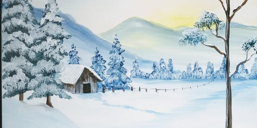 "Paint Party at Hide-A-Way ""Winter Cabin"" with Creatively Carrie"