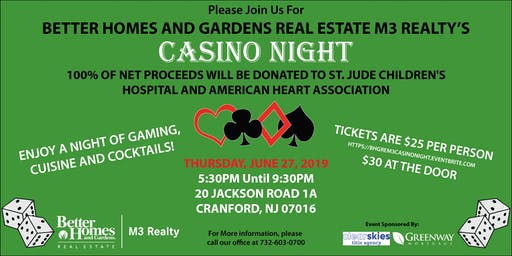 Better Homes and Gardens Real Estate M3 Realty's Casino Night