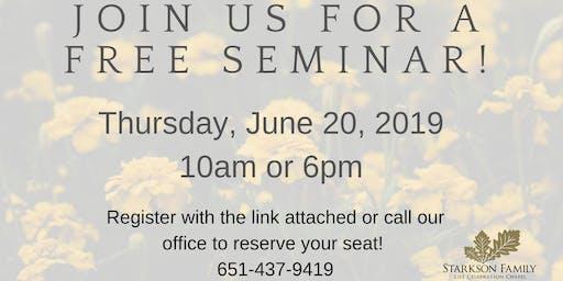 FREE Advanced Planning Seminar