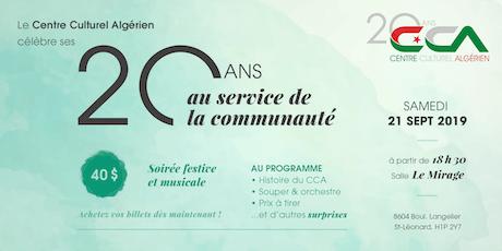Soirée de célébration du 20ème anniversaire du Centre Culturel Algérien billets