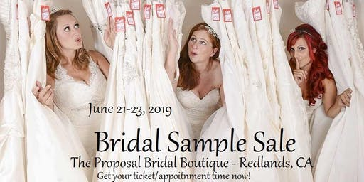 Summer Bridal Sample Sale