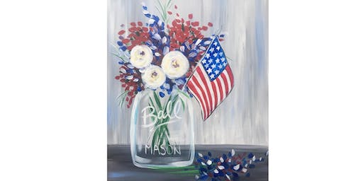 RED, WHITE, & BLUE BLOOMS paint class (all ages)