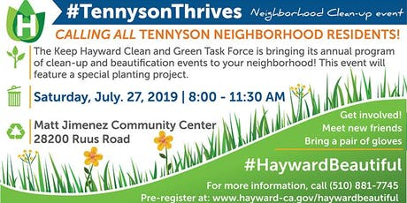 Tennyson Area Clean-up Event  tickets