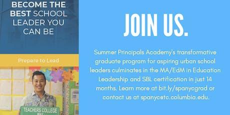 Summer Principals Academy Harlem Mixer tickets