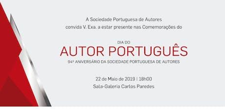 Prémios AUTOR SPA 2019 bilhetes