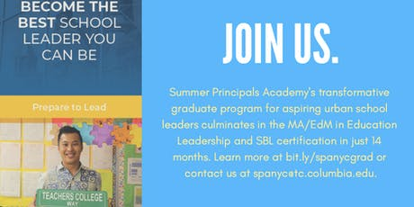 Summer Principals Academy Virtual Information Session tickets