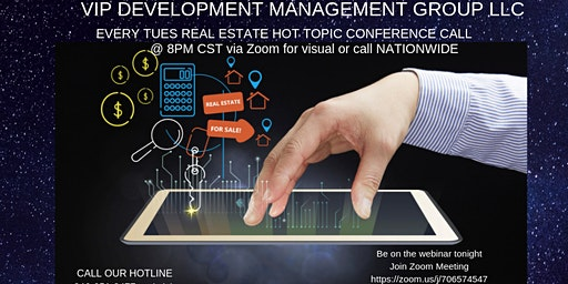 VIP REI Tuesday HOT TOPIC weekly conference webinar
