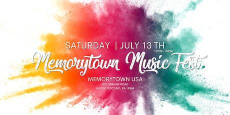 Memorytown Music Fest tickets