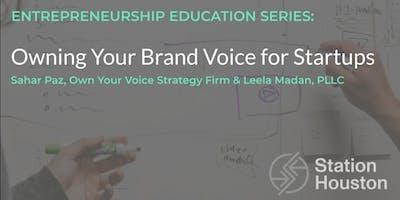 Owning Your Brand Voice for Startups | Sahar Paz & Leela Madan