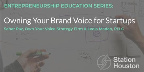 Owning Your Brand Voice for Startups | Sahar Paz & Leela Madan tickets