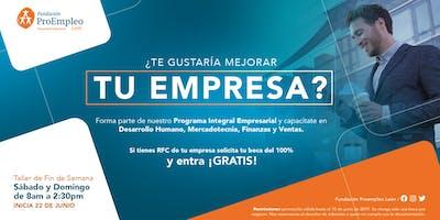 Programa Integral Empresarial FIN DE SEMANA en JUNIO