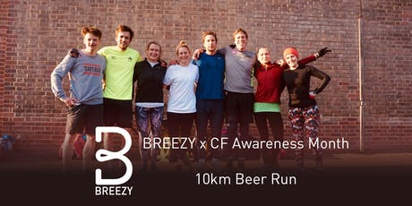 Breezy x CF Awareness Week10km Beer Run tickets