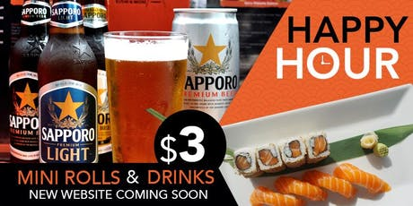 Happy Hour $3 @ Obba Sushi  tickets