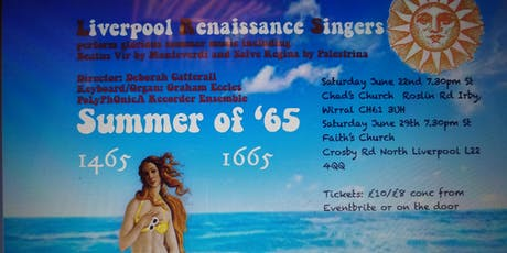 Summer of '65 with the Liverpool Renaissance Singers tickets