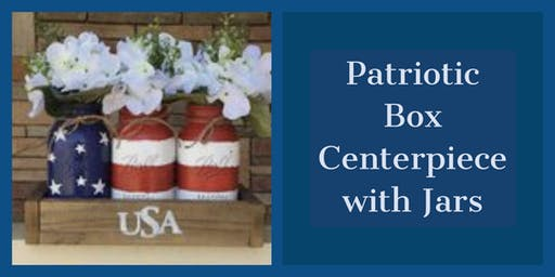 Patriotic Wood Box Centerpiece