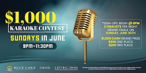 $1,000 Karaoke Contest