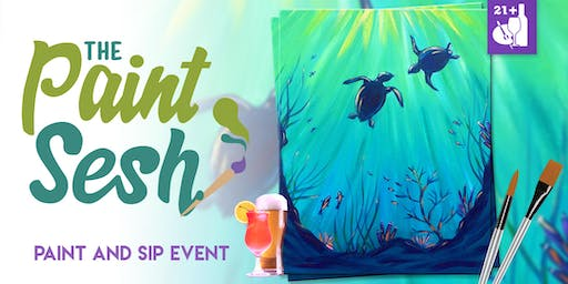 "Paint night in Long Beach, CA – ""Under the Sea Turtles"""