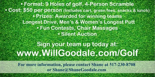 Tee-Off for Will Golf Fundraiser