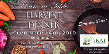 2019 Farm to Table Harvest Dinner tickets