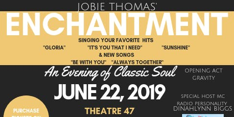 Y.E.C. present An Evening of Classic Soul with Jobie Thomas' ENCHANTMENT