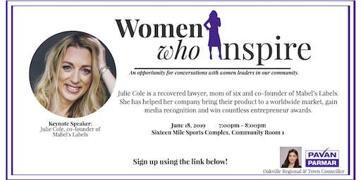 Women Who Inspire: Key Note Speaker,  Julie Cole, Co-Founder Mabel's Labels