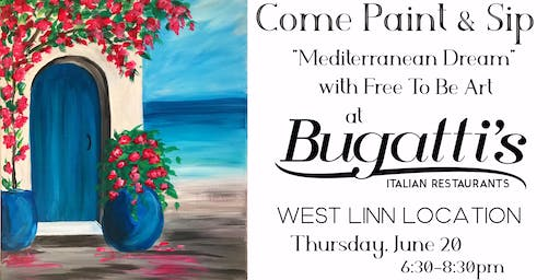 Paint & Sip 'Mediterranean Dream' at Bugatti's in West Linn