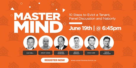 Mastermind Event - 10 Steps to Evict a Tenant, Panel Discussion and Naborly  tickets