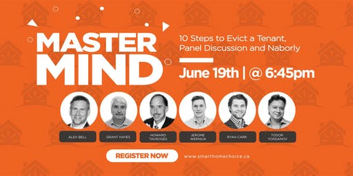 Mastermind Event - 10 Steps to Evict a Tenant, Panel Discussion and Naborly