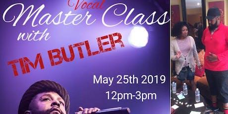 Tim Butler Vocal Masterclass tickets