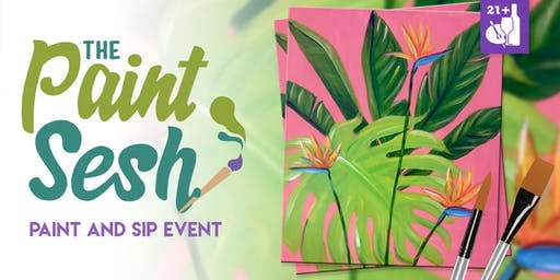 "Paint and Sip in Downtown Riverside, CA – ""Tropical Bliss"""