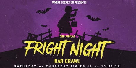 3rd Annual Fright Night Bar Crawl Wynwood tickets