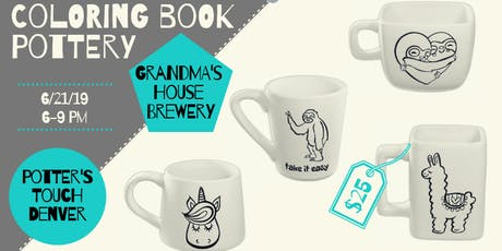 Paint Coloring Book Pottery at Grandma's! (6/21) tickets