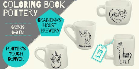 Paint Coloring Book Pottery at Grandma's! (6/28) tickets