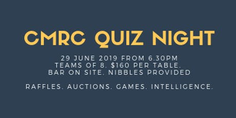 Counties Manukau Rowing Club QUIZ NIGHT tickets