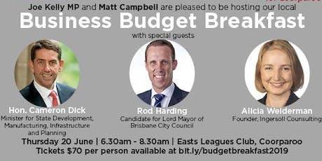 Business Budget Breakfast tickets