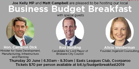 Business Budget Breakfast