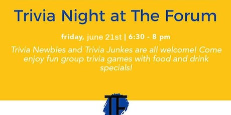 Trivia Night at The Forum tickets