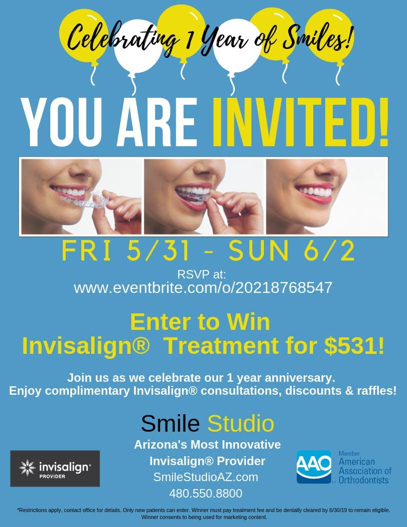 Smile Studio: Celebrating 1 Year of Invisalign® Smiles!
