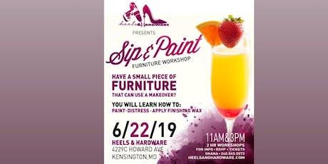 Sip & Paint Furniture Workshop tickets