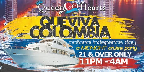 Colombian Day NYC Midnight Party Cruise NYC Queen of Hearts Boat tickets