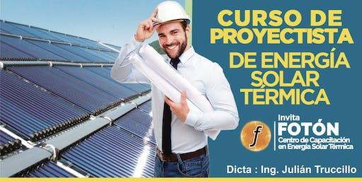 Curso de Proyectista de Grandes Instalaciones de Energía solar Térmica