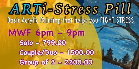ARTi-Stress Pill (Post-work Acrylic Painting Session) tickets