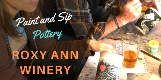Paint & Sip Pottery at Roxy Ann Winery! 3rd Sunday