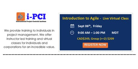 Introduction to Agile Project Management - Live Webcast: Sept 6, 2019 tickets