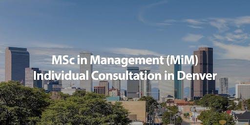 CUHK MSc in Management (MiM) Individual Consultation in Denver