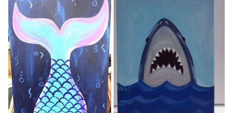 Mermaid/Shark Kids Paint Event Taunton  tickets